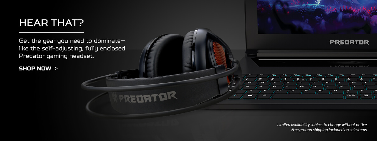 Hear that? Get the gear you need to dominate-like the self-adjusting, fully enclosed Predator gaming headset. Shop now.