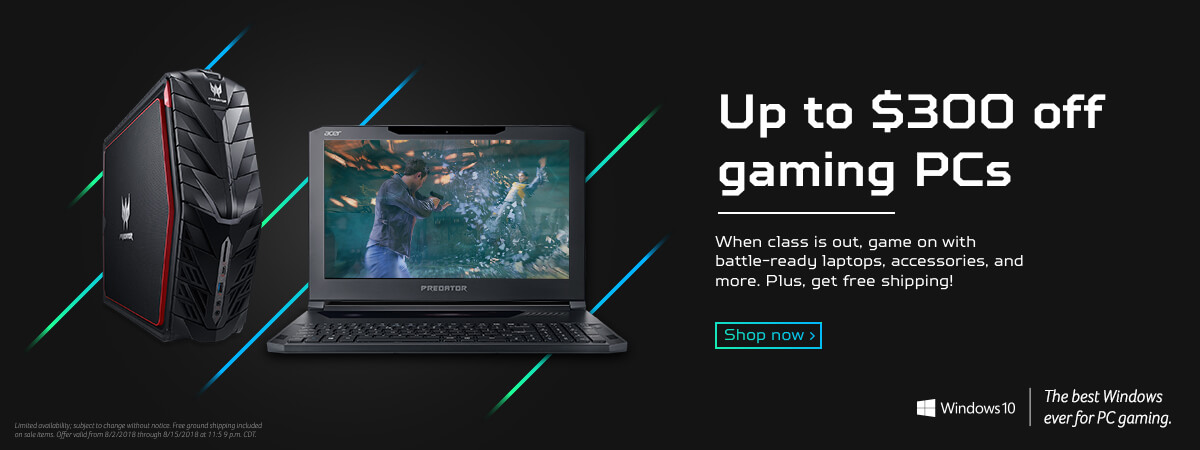 Up to $300 off Gaming PCs