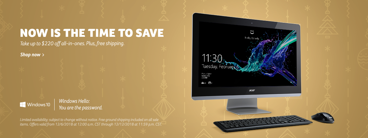 Save up to $220 on Acer All-in-One desktop computers
