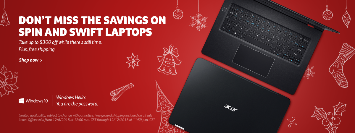 Save up to $300 on Acer Spin and Swift series laptops