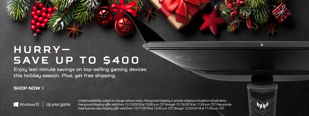 Save up to $400 on Acer gaming devices