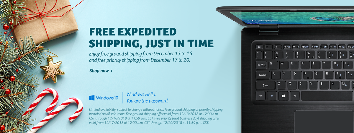 Free ground shipping from Dec. 13 - 16; Free expedited shipping from Dec. 17 - 20