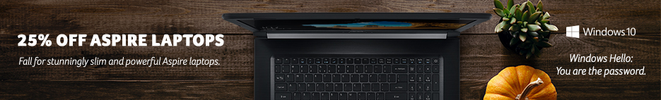 Save up to 25% on Aspire series laptops