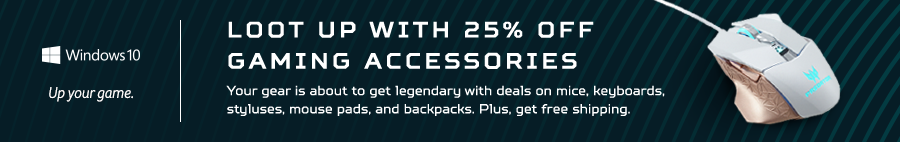 Save 25% on Acer Gaming Accessories