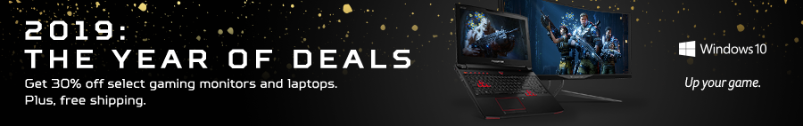 Save 30% on gaming laptops and monitors