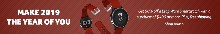 Get 50% off a Leap Ware Smartwatch with the purchase of $400 or more