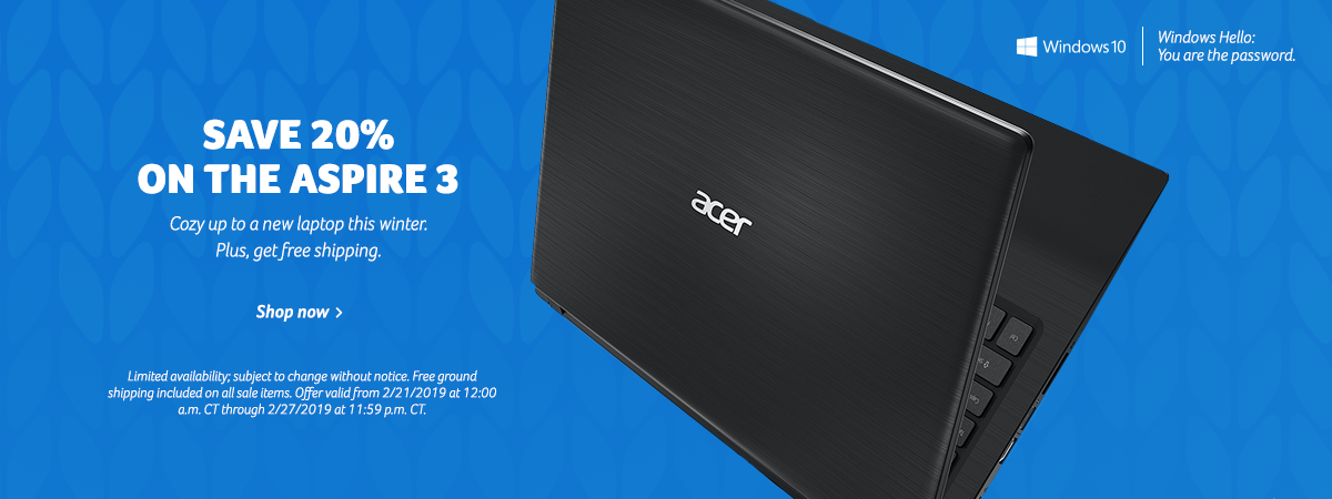 Save 20% on the Acer Aspire 3