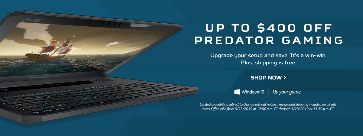 Save up to $400 on Predator Gaming Devices