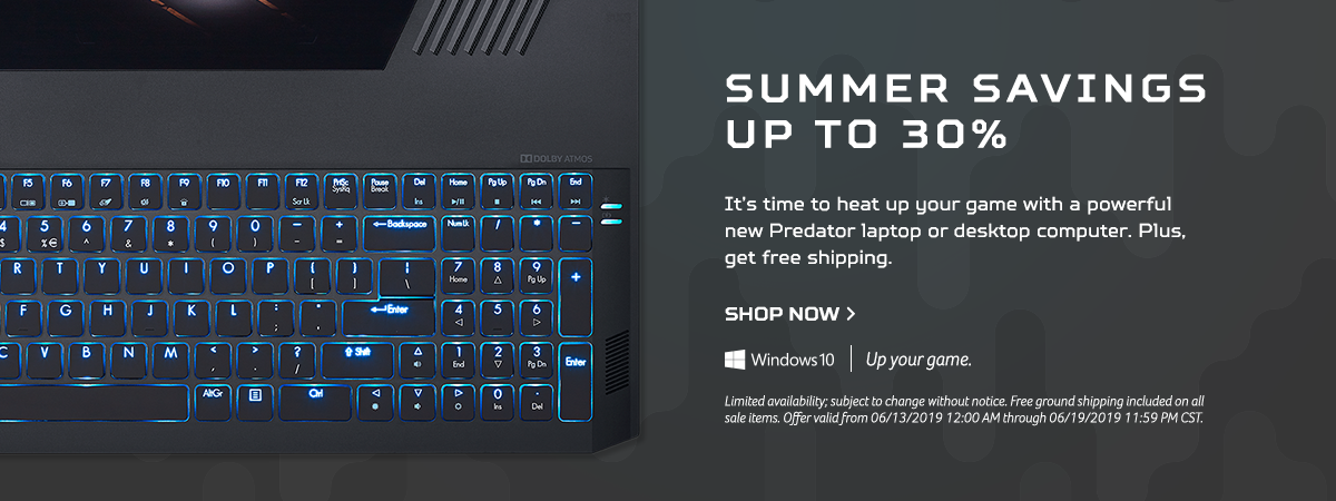 Save up to 30% on Predator Laptops and Desktops