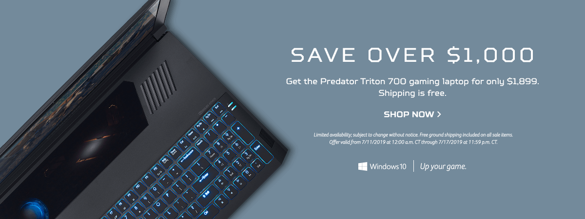 Get the Predator Triton 700 for only $1,899