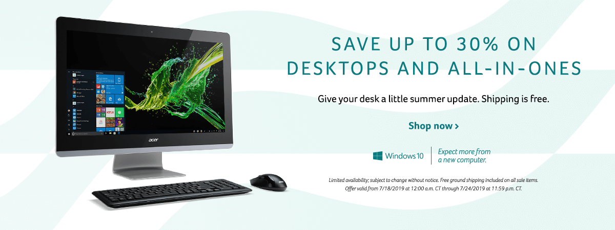 Save up to 30% on desktops and All-in-Ones