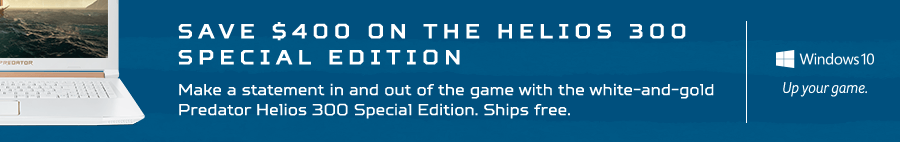 Save $400 on the Predator Helios 300 Special Edition Gaming Laptop