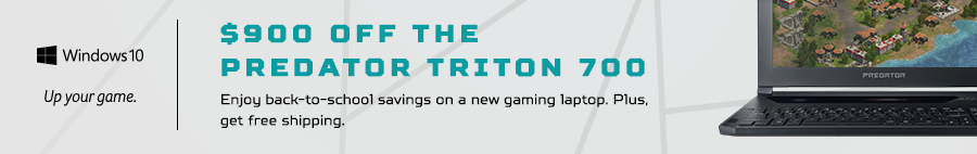 Save $900 on the Predator Triton 700