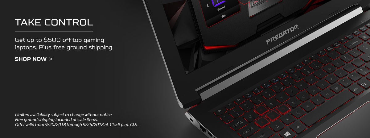 Take Control. Get up to $500 off top gaming laptops. Plus free ground shipping.