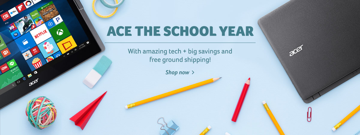 Ace the school year with amazing tech, plus big savings and free ground shipping! Shop now!