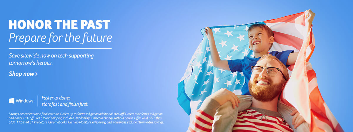Honor the past, prepare for the future. Save Sitewide now on tech supporting tomorrow's heros.
