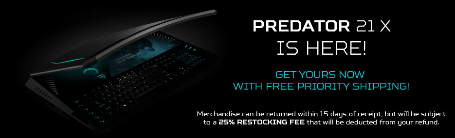 Predator 21 X is here. Get yours now with free priority shipping!* Merchandise can be returned within 15 days of receipt, but will be subject to a 25% restocking fee that will be deducted from your refund.
