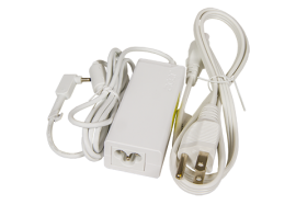 45W Adapter with Power Cord (White, small pin)