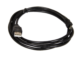 USB Cable (Type A to Type B Micro) (Black, 6ft)