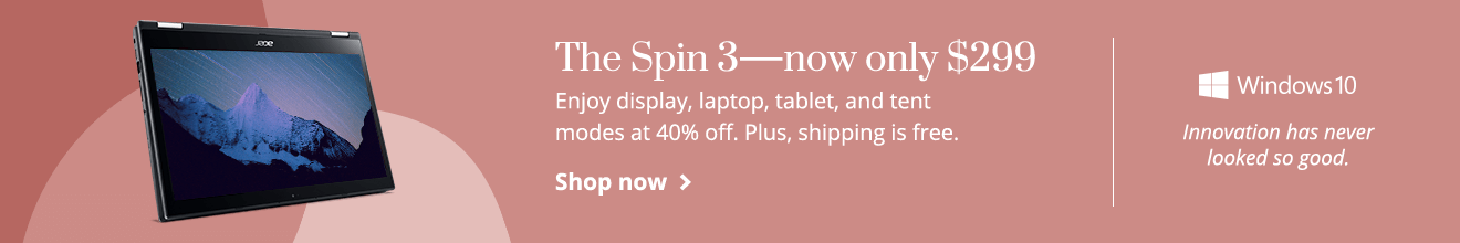Save 40% and get the Spin 3 for only $299. Plus, free shipping.
