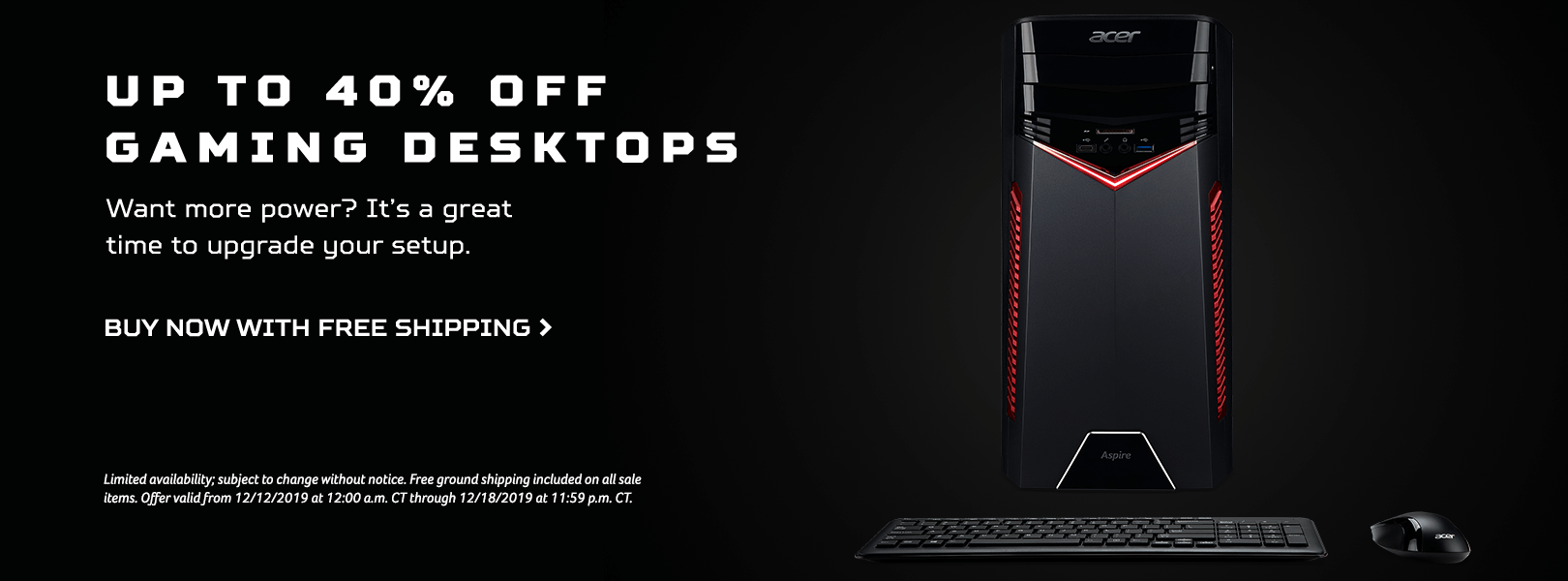 Save up to 40% on Gaming Desktops