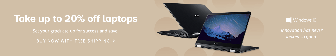 Save up to 20% on laptops for the graduate
