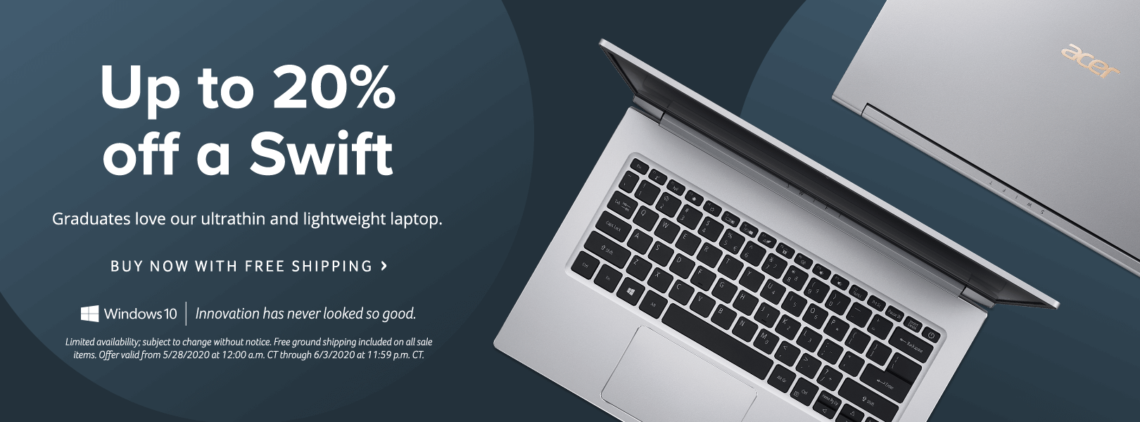 Save up to 20% on a Swift Laptop