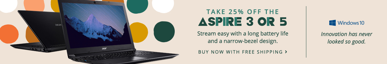Save 25% on an Aspire 3 or 5