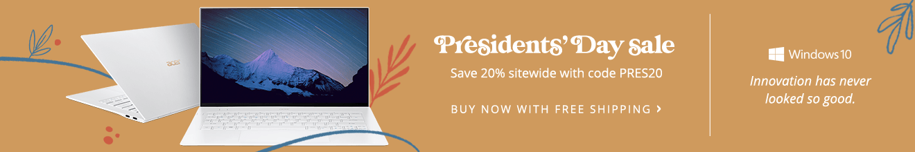 20% Off Presidents' Day Sitewide Store Sale
