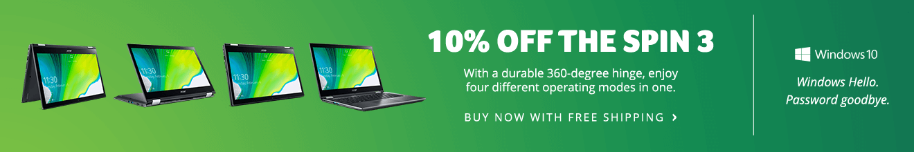 Save 10% on the Spin 3 Laptop