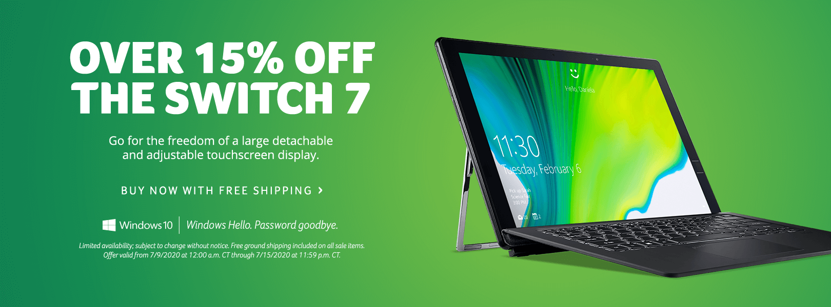 Save over 15% on the Switch 7 Laptop