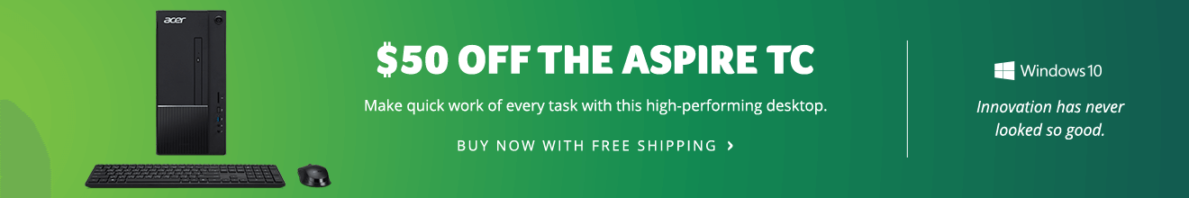Save $50 on the Aspire TC Desktop