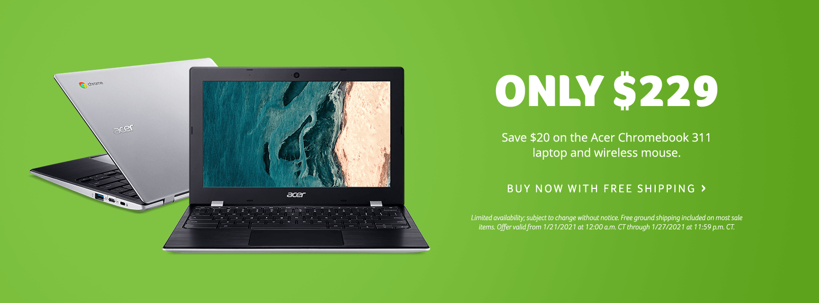 Save $20 on the Acer Chromebook 311 Laptop and Wireless Mouse