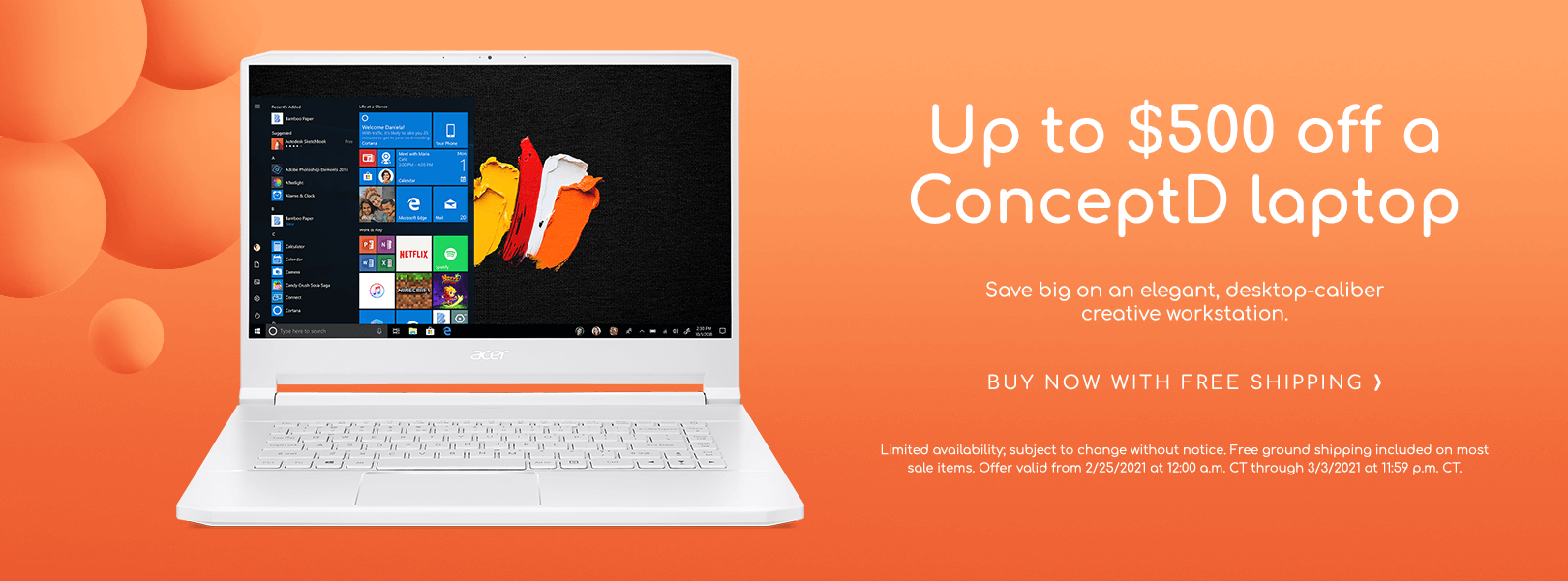Save up to $500 on ConceptD Laptops