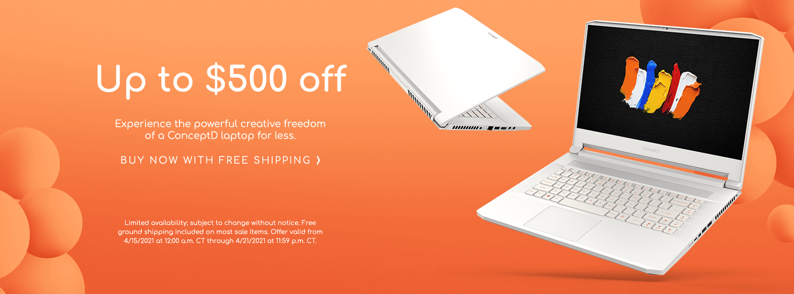 Save up to $500 on a ConceptD Laptop