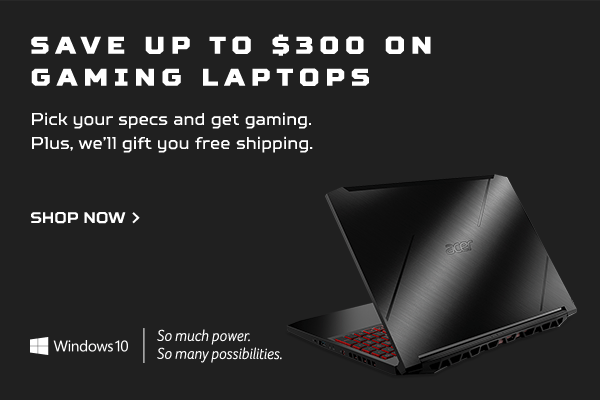 Save up to $300 on Gaming Laptops