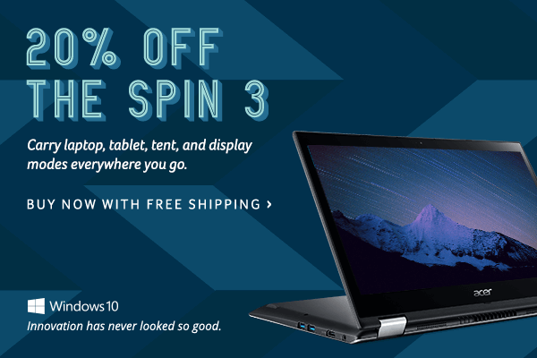 Save 20% on the Spin 3
