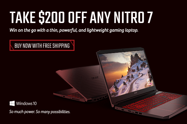 Save $200 across the Nitro 7 Gaming line
