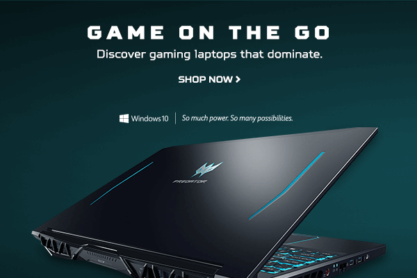 Game on the Go. Discover gaming laptops that dominate.