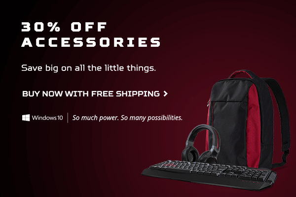 Save 30% on select accessories during the Acer Memorial Day Sale.